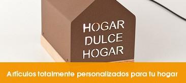 Artículos personalizados de decoración e iluminación para el hogar