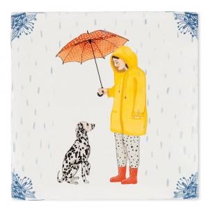Azulejo Llueven Perros