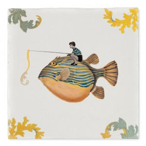 Azulejo Pesca Del Día
