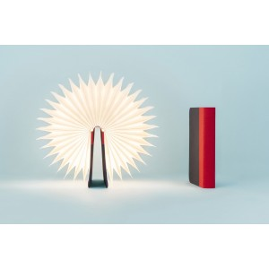Lámpara libro roja/ azul marino