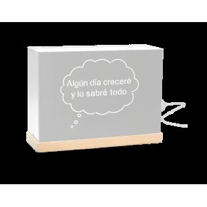 """Lámpara Niño """"Prohibido no soñar"""" Gris"""