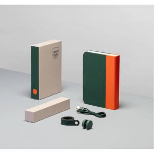 Lámpara Libro Naranja & Verde Oscuro
