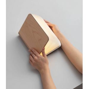 Lámpara Libro Madera Clara