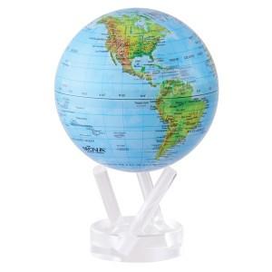 Bola del mundo pequeña. Mapa físico