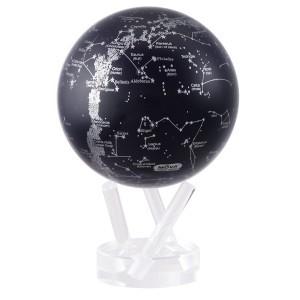 mapa constelaciones plateado y negro