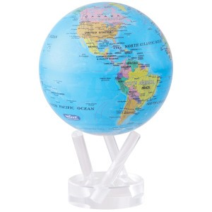 small world globe. Politic map