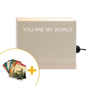 "Lámpara Horizontal ""You are my world"" Crema"